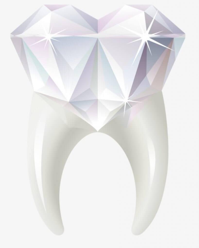 Come si applica il brillantino al dente